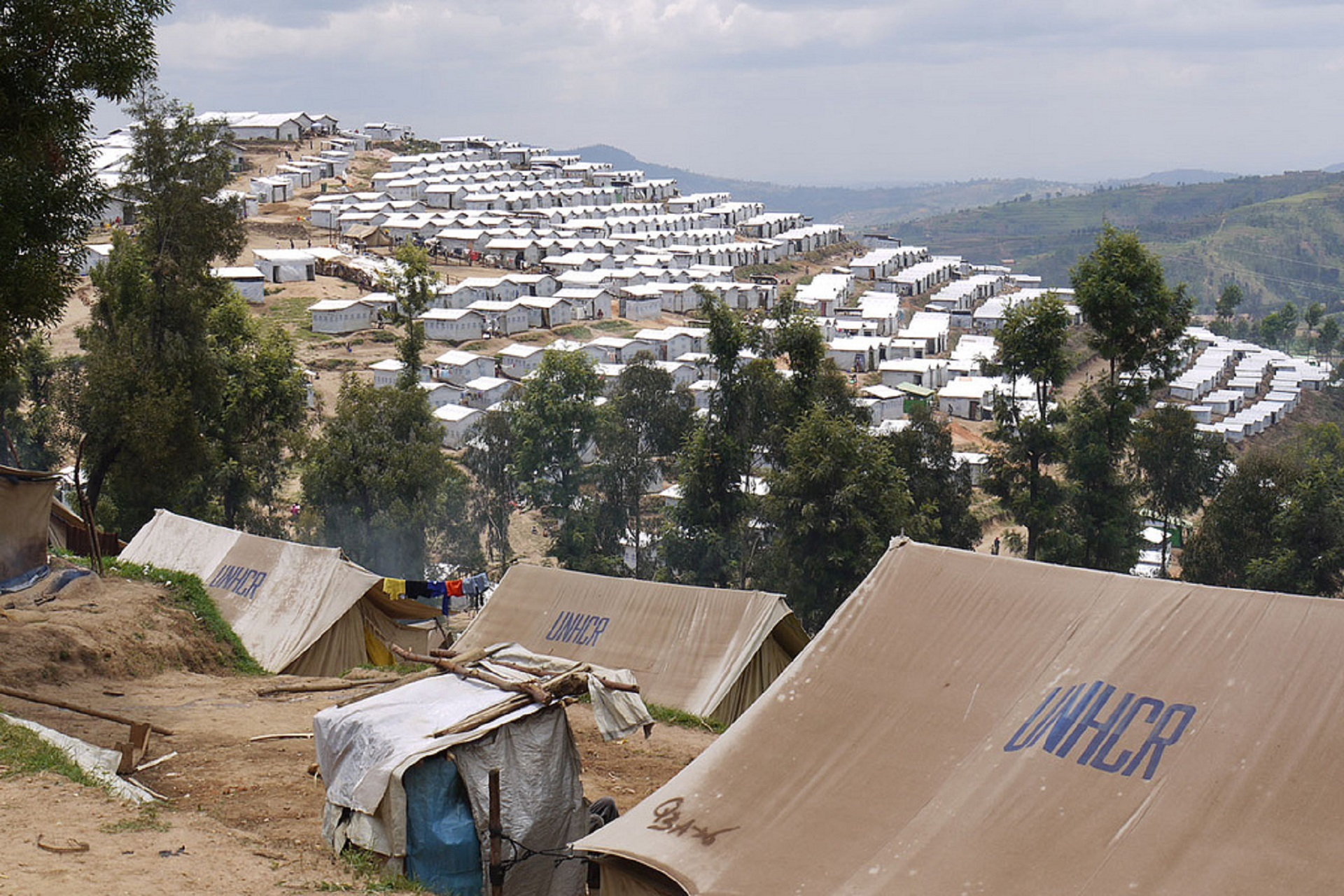 photo of refugee settlement