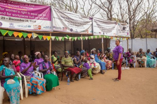 As part of the 16 Days of Activism against Gender Violence International Medical Corps holds a session to inform women of their rights