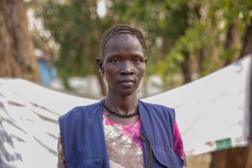 Photo of South Sudanese refugee, Nyabong Puak.